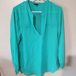Mossimo sheer teal blouse